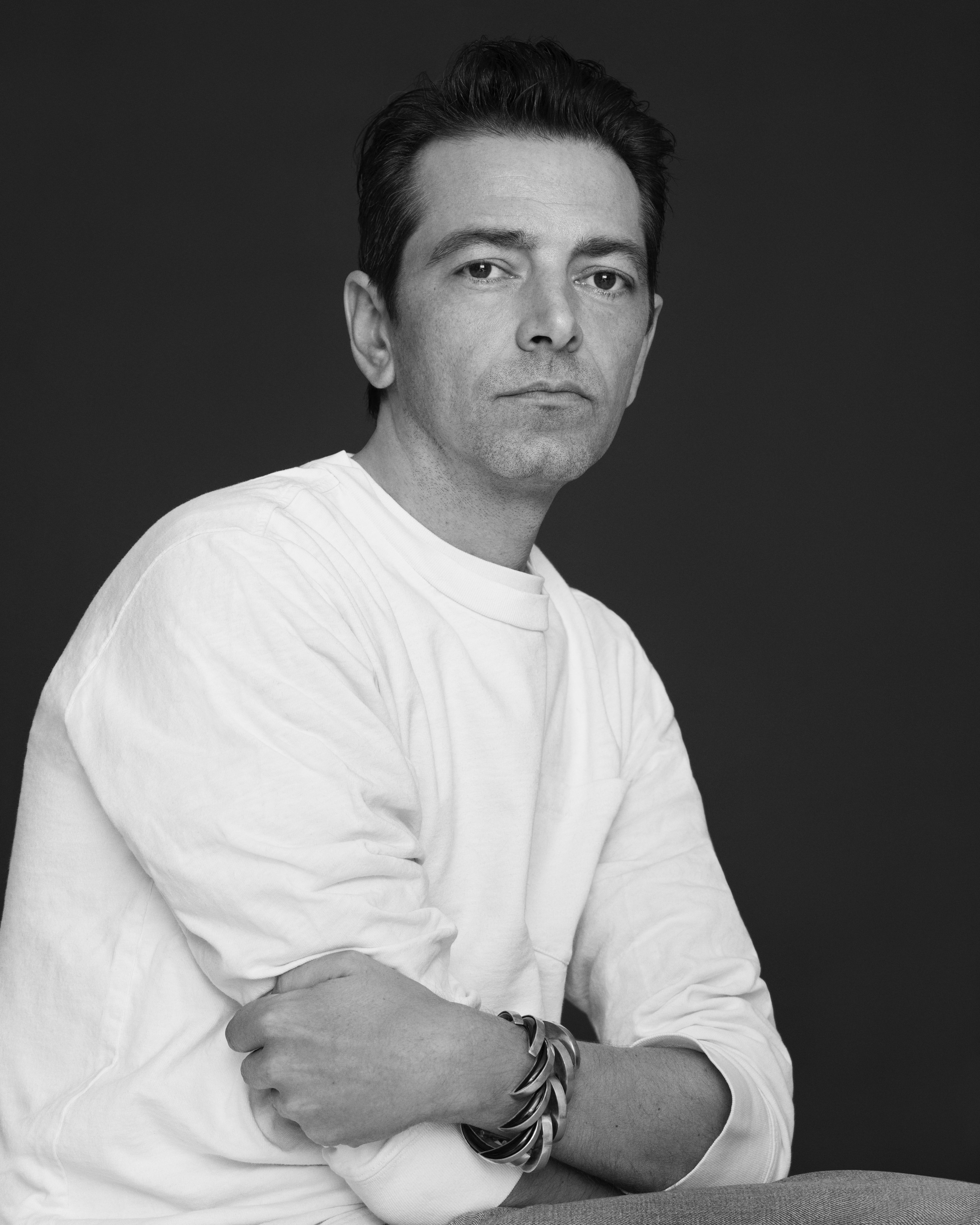 Pieter Mulier shot by Pierre Debusschere. Alaïa.