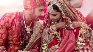 Deepika Padukone and Ranveer Singh in Sabyasachi, a brand now majority owned by Aditya Birla Fashion, at their wedding in Lake Como.Errikos-Andreous