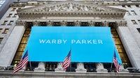 Warby Parker debuted on the New York Stock Exchange on Wednesday, Sept. 29, 2021. Warper Parker.