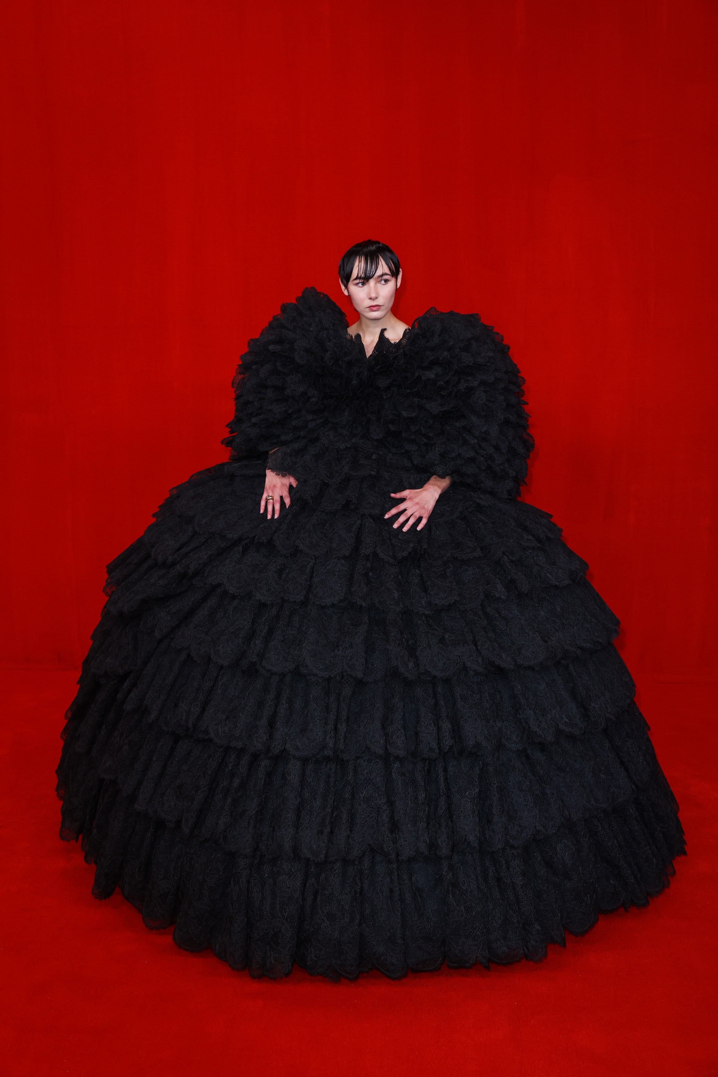 A model in Balenciaga Spring/Summer 2022. Richard Bord/Getty Images.