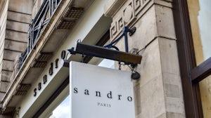 Facade of the Sandro store on Regent Street. Shutterstock.