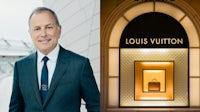 Michael Burke, chairman and chief executive of Louis Vuitton; a Louis Vuitton store in Milan. Louis Vuitton; Shutterstock.