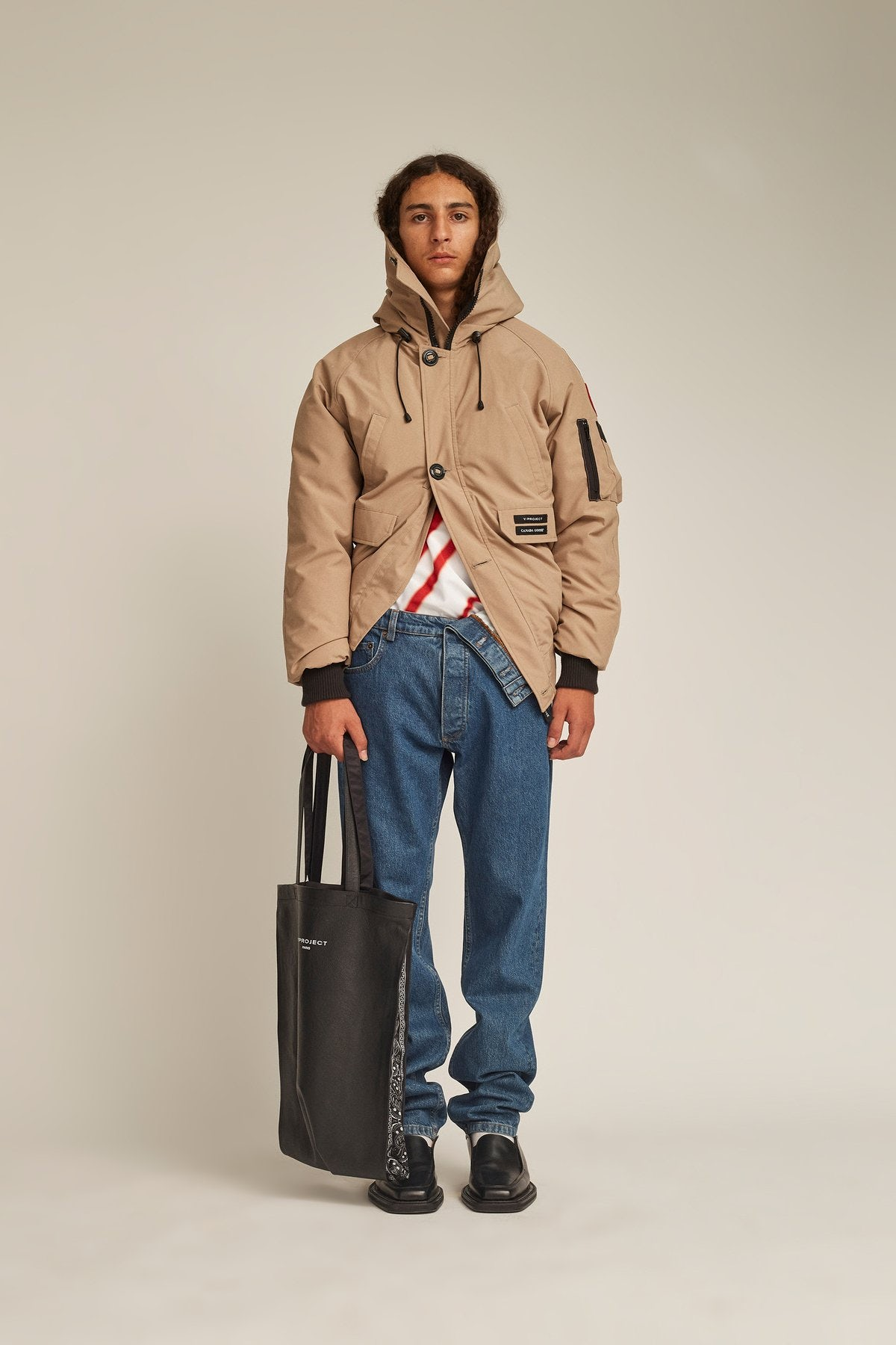 A look from the Y/Project x Canada Goose collaboration. Y/Project.