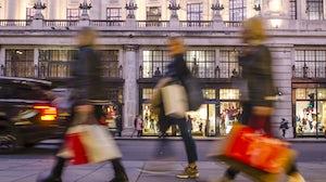 Shoppers on London's Oxford Street. Shutterstock.