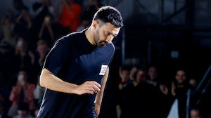 Burberry chief creative officer Riccardo Tisci at the brand's Spring/Summer 2020 show. Getty Images.