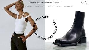 Zerina Akers' e-commerce marketplace 'Black Owned Everything'. Website Image.
