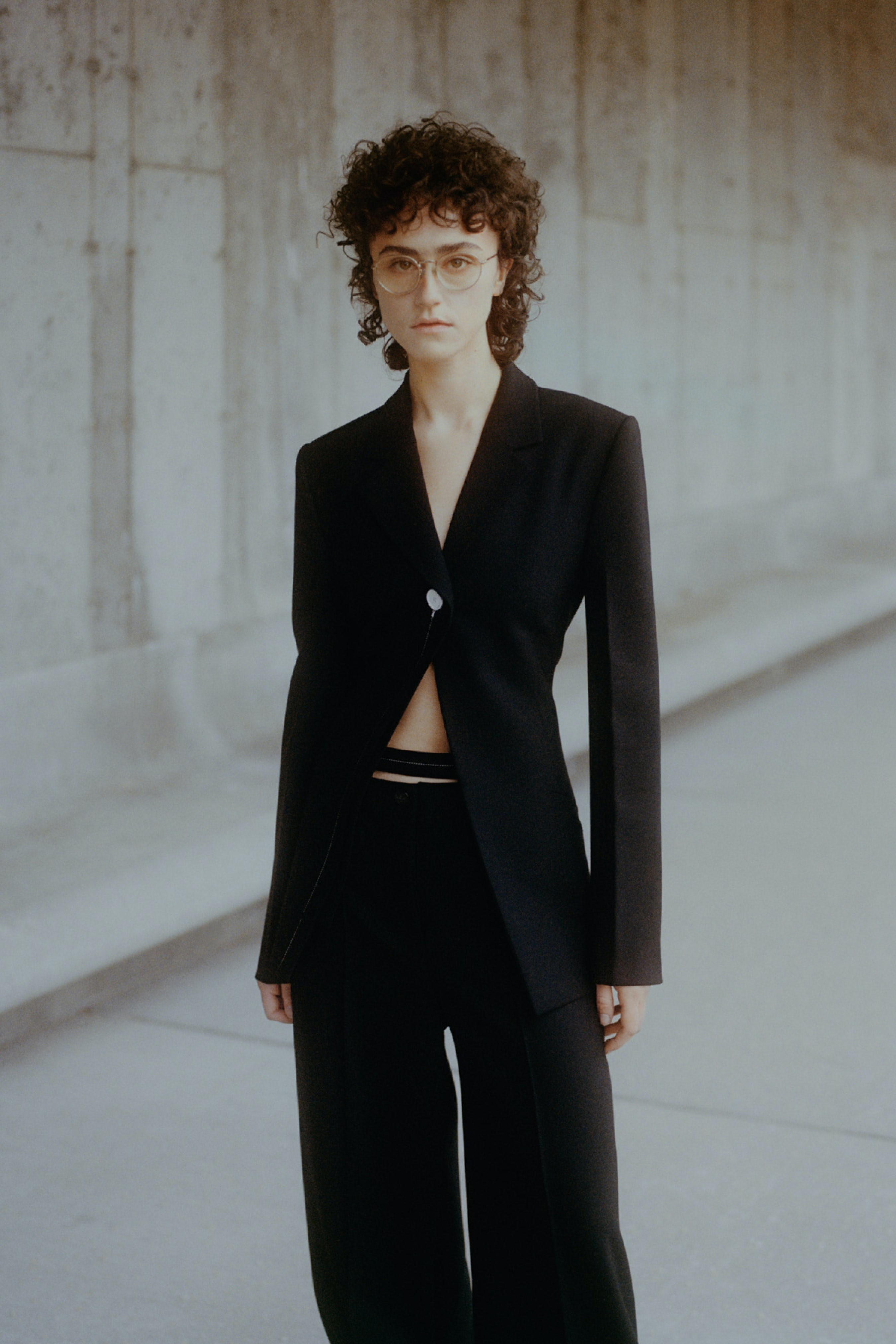 Ella Emhoff wearing Proenza Schouler Autumn/Winter 2021. Daniel Shea.