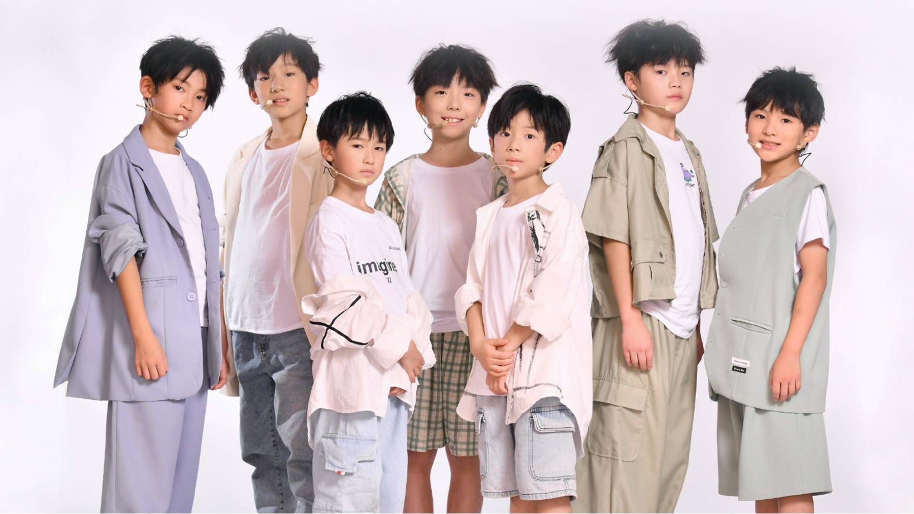 The Panda Boys range in age from 7 to 11 years old. ASE Agency.