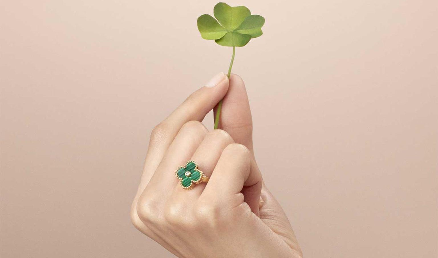 Van Cleef & Arpels is fighting in Chinese court to protect its signature clover shape. Van Cleef & Arpels.