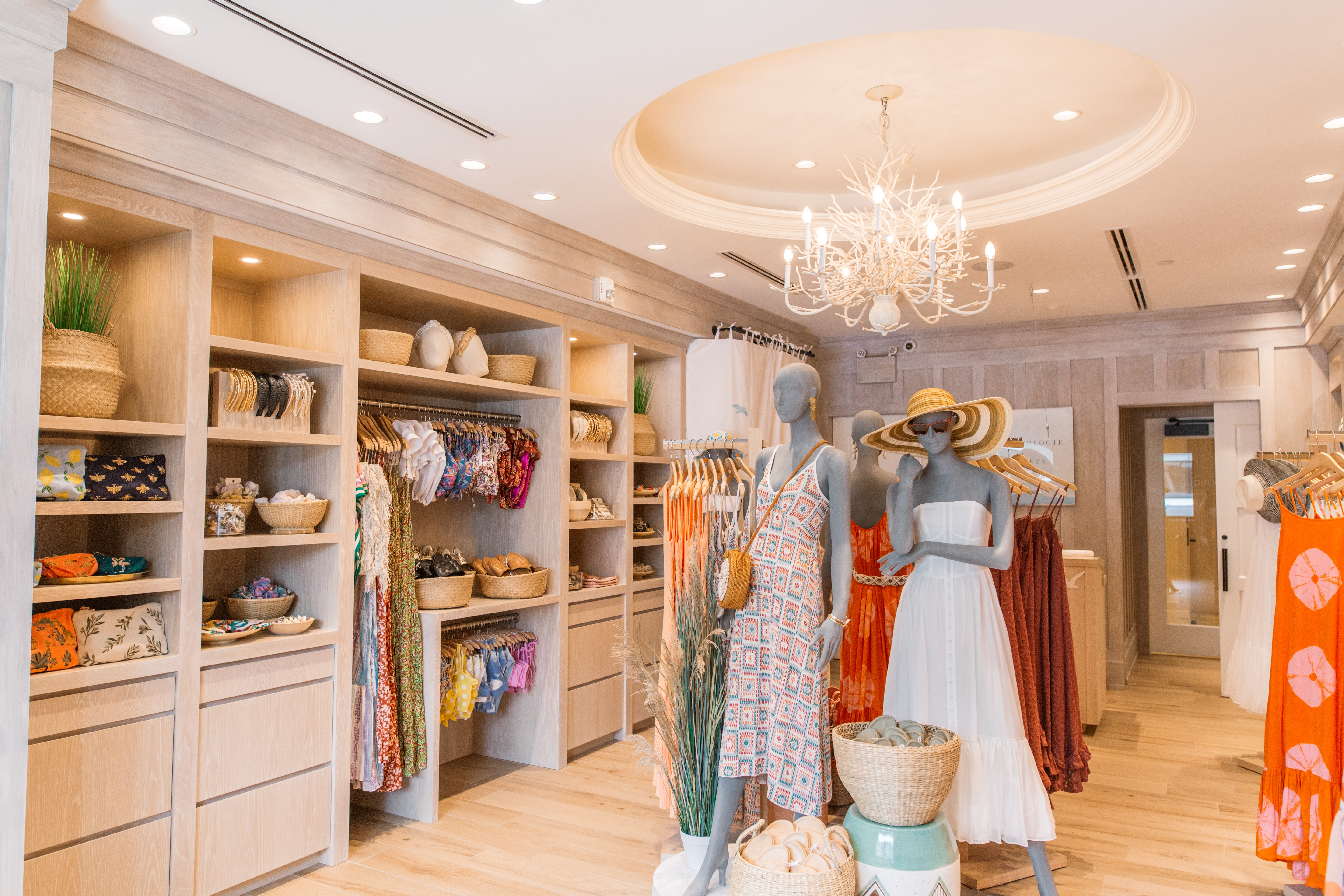 Anthropologie\'s new pop-up store inside The Reeds at Shelter Haven, a luxury hotel located on the Jersey Shore. Anthropologie.
