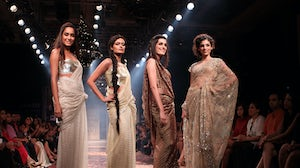 A grand finale of Lakme Fashion Week. Getty Images/Chirag Wakaskar/WireImage.