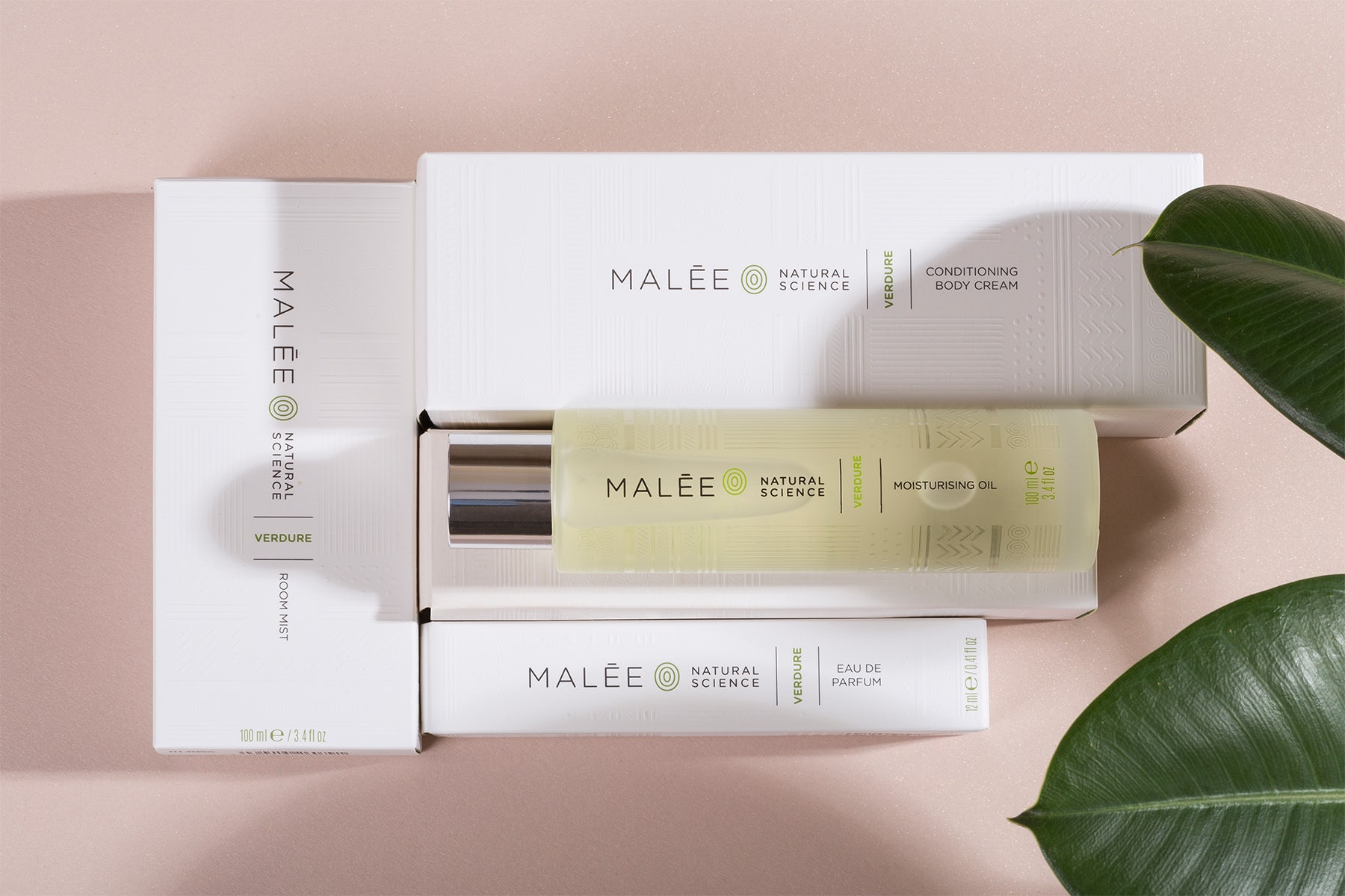 Malée Natural Science collection including skincare and fragrances. Malée Natural Science.