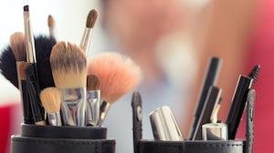 Cosmetics brushes. Shutterstock.