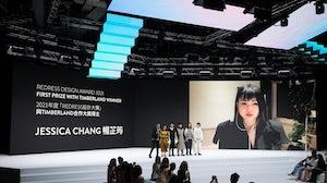Jessica Chang won first prize at the Redress Design Award 2021. Redress