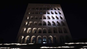 Fendi's headquarters, the Palazzo della Civiltà Italiana in Rome. Courtesy.