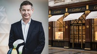 Cartier CEO Cyrille Vigneron; a Cartier store in London, UK. Cartier; Getty Images.