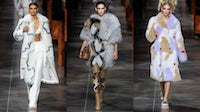 LVMH-owned Fendi staged its Spring/Summer 2022 show in Milan on Wednesday which included decadent furs. Less than 48 hours later, the group's arch-rival Kering announced it was going fur-free. Courtesy.