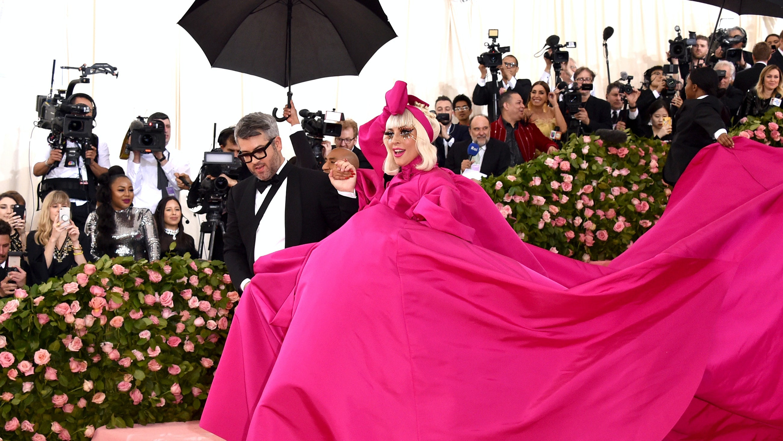 Brandon Maxwell and Lady Gaga at the Met Gala. Getty Images.