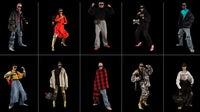Balenciaga's Fall 2021 collection from its video game lookbook.