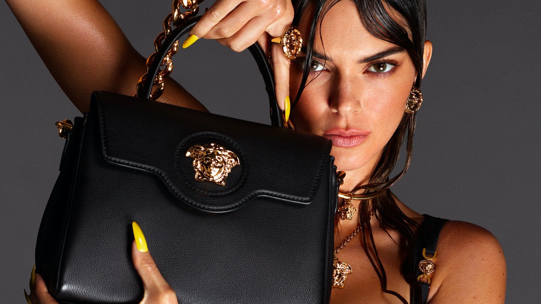 Kendall Jenner stars in Versace Spring/Summer 2021 campaign. Versace.