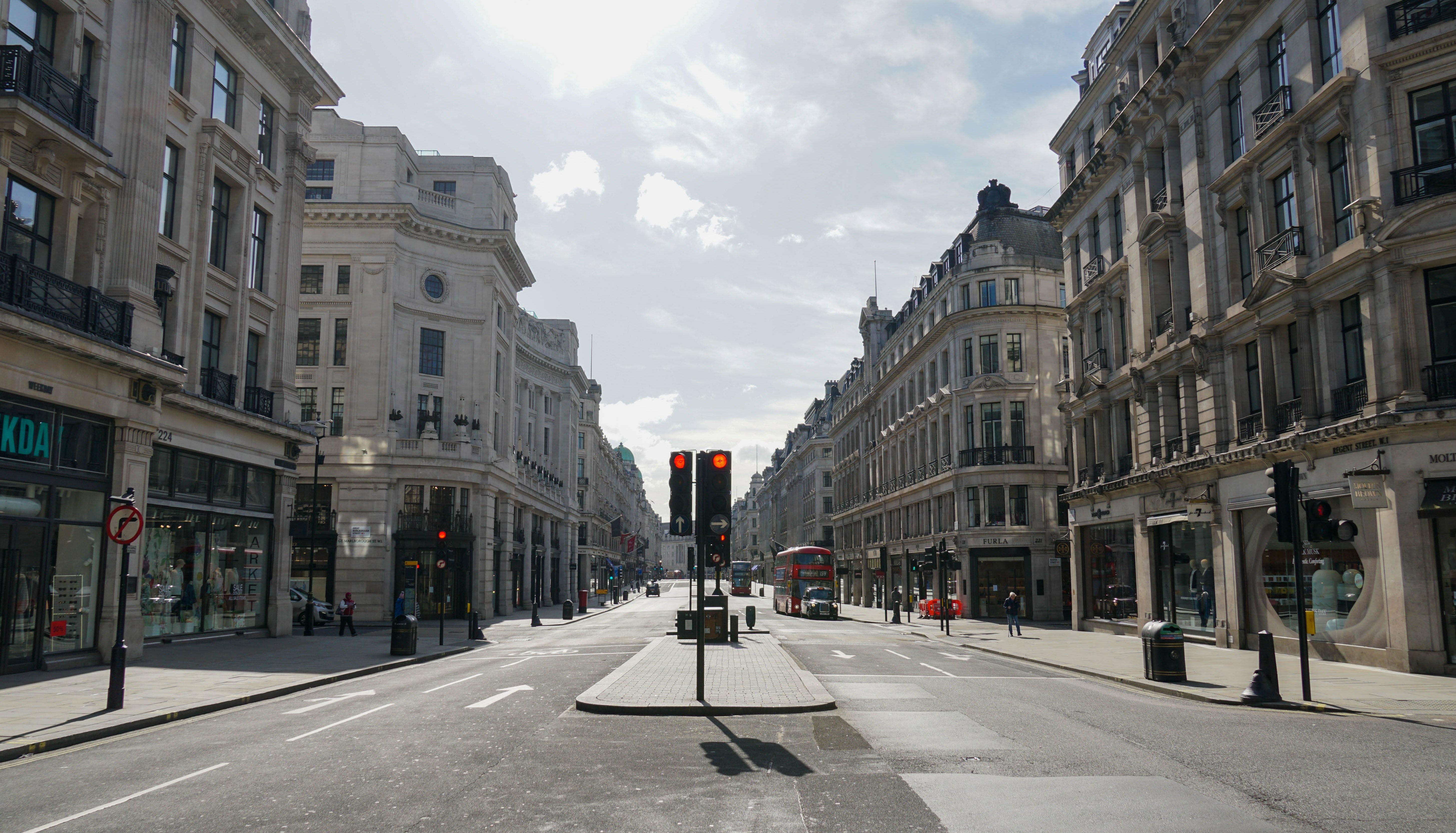 London's Oxford Street during lockdown. Shutterstock.