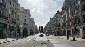 London's Oxford Street during lockdown. Shutterstock.
