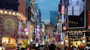 Myeongdong shopping street in Seoul, South Korea. Shutterstock