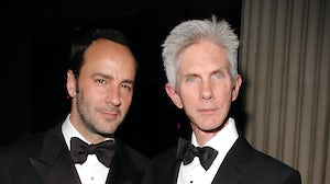 Tom Ford and Richard Buckley at the Met Gala in 2006. Rabbani and Solimene Photography/WireImage