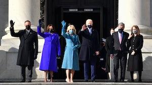 President Joe Biden wears Ralph Lauren for Inauguration Day. Getty Images.
