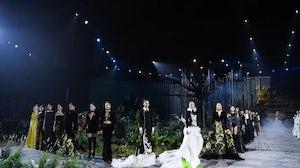 Heaven Gaia shows at China Fashion Week. China Fashion Week