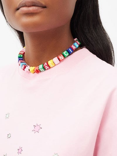 Balenciaga's beaded necklaces are best-sellers. MatchesFashion.