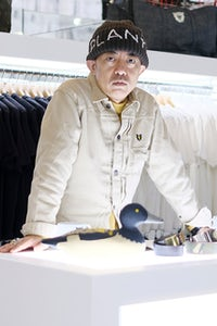 Designer Nigo poses at the Billionaire Boys Club store opening in 2016. Getty Images.