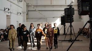 Looks from David Nikolov's collection on the catwalk at MBPFW. Olga Zmelikova