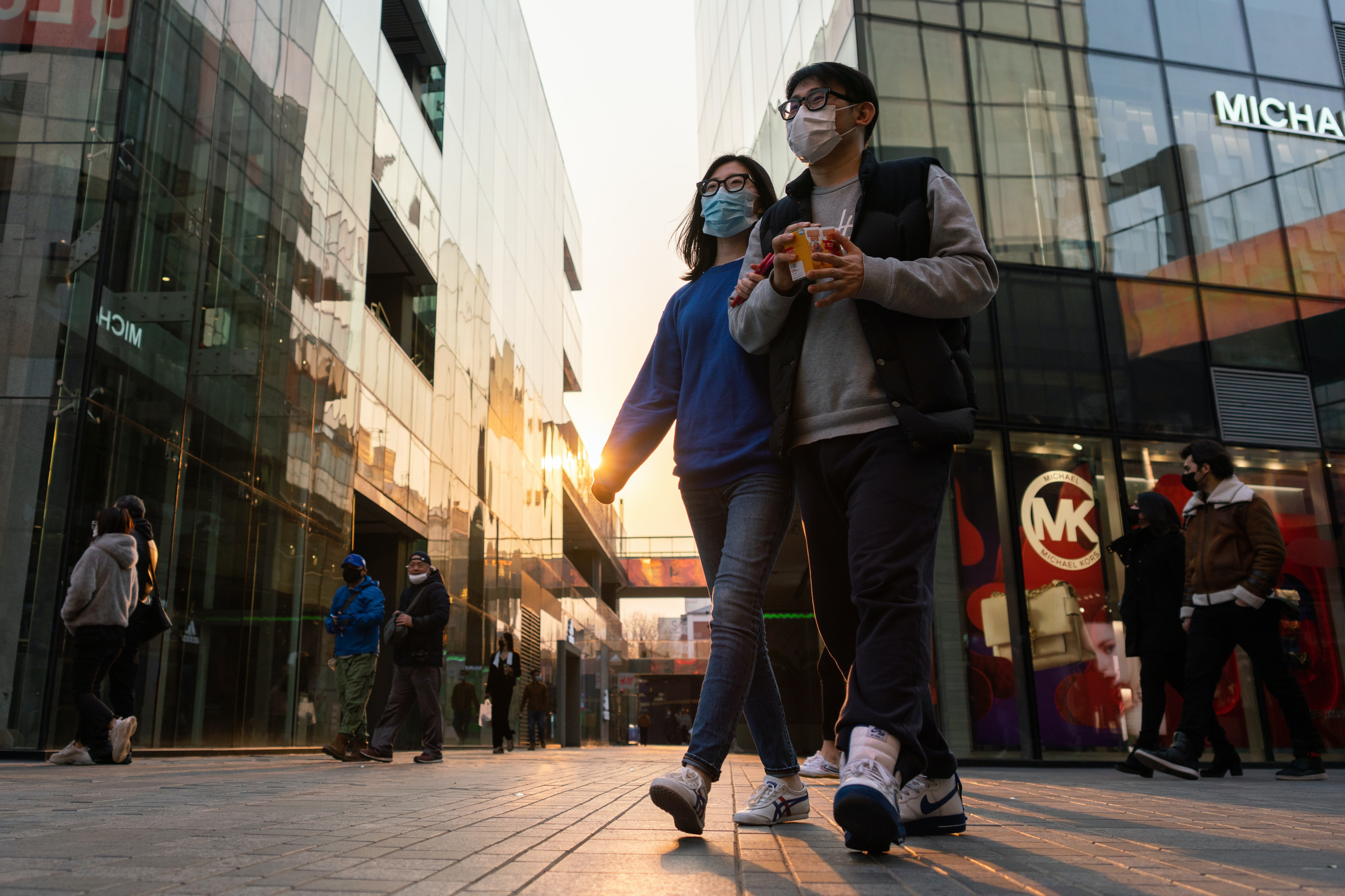 Beijing daily life amid the Covid-19 pandemic. Getty Images.