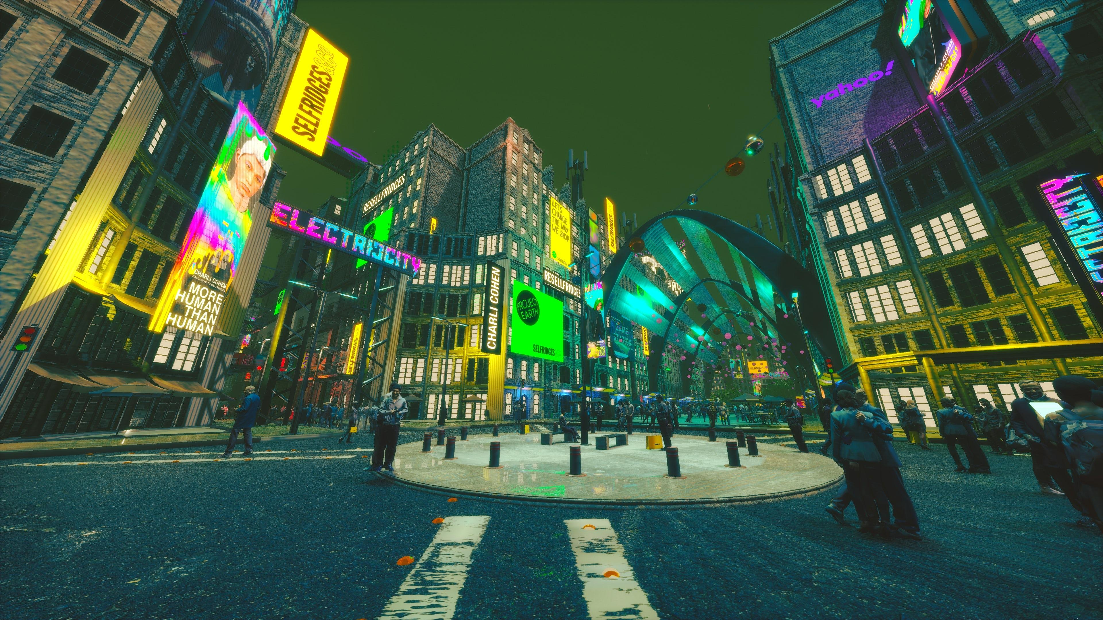Walking around the virtual city. Yahoo.