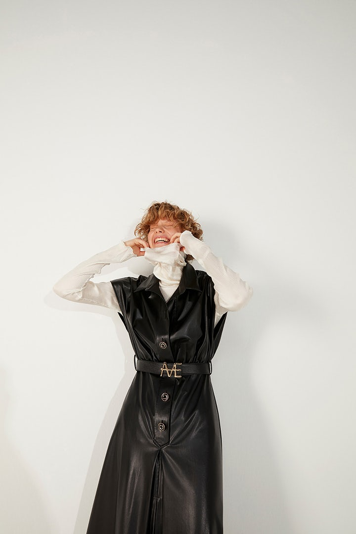 A look from Mehtap Elaidi FW21. FWI.