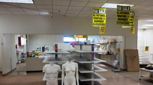 A nearly liquidated JCPenney store in Pennsylvania on July 24, 2017. Getty.