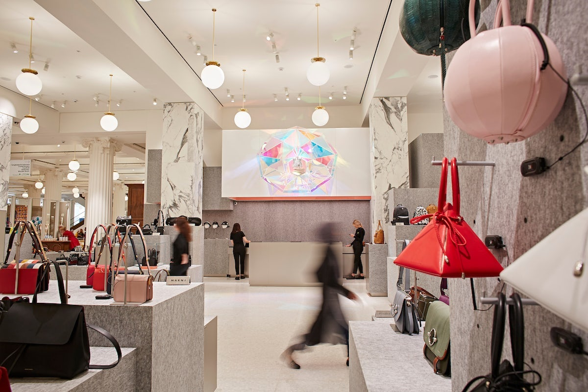 Inside the new accessories hall in Selfridges' London store | Source: Courtesy