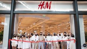 The scene at H&M's opening in Panama. H&M