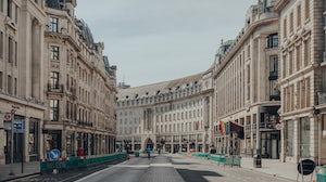 Regent Street, a major shopping street in the West End of London. Shutterstock.