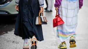 People seen wearing Balenciaga sneaker. Getty Images.