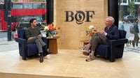Imran Amed, founder & CEO of The Business of Fashion and Andrew Keith, Managing Director of Selfridges, at the BoF Professional Summit. BoF.