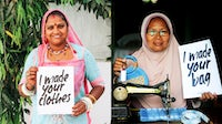 """Images from Fashion Revolution's """"Who Made My Clothes?"""" Campaign. Fashion Revolution."""