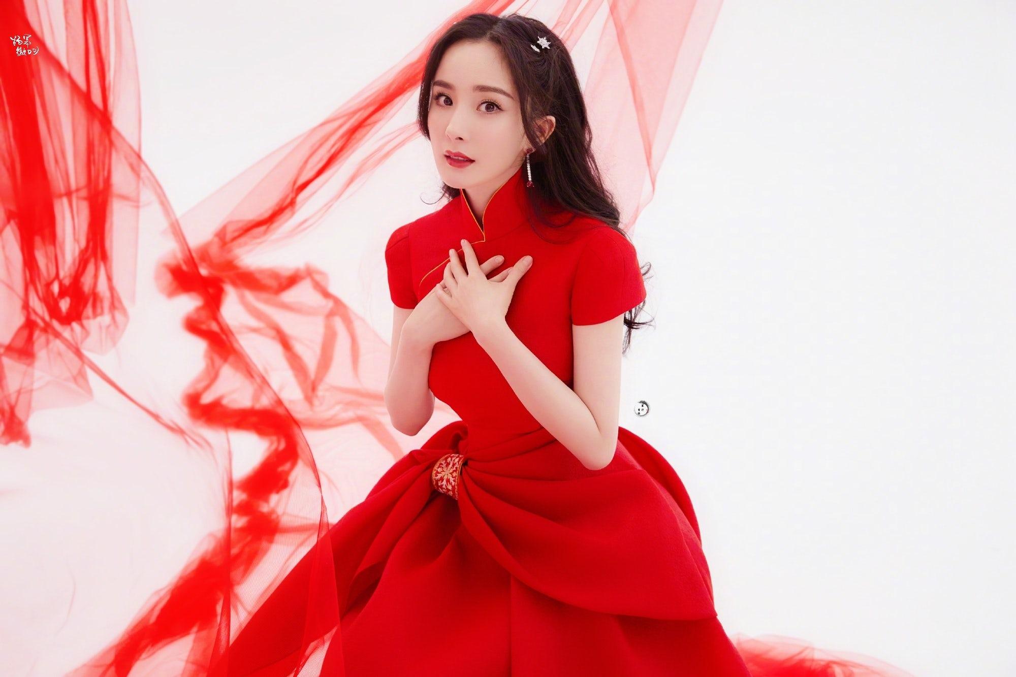 Actress Yang Mi in bespoke Guo Pei for the Spring Festival Gala 2021. Guo Pei.