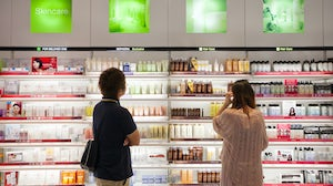 Fragrance and colour cosmetics faced steep declines in 2020, but beauty demand overall remains strong as consumers turn to the self-care categories of skincare, haircare and personal care. Getty Images.