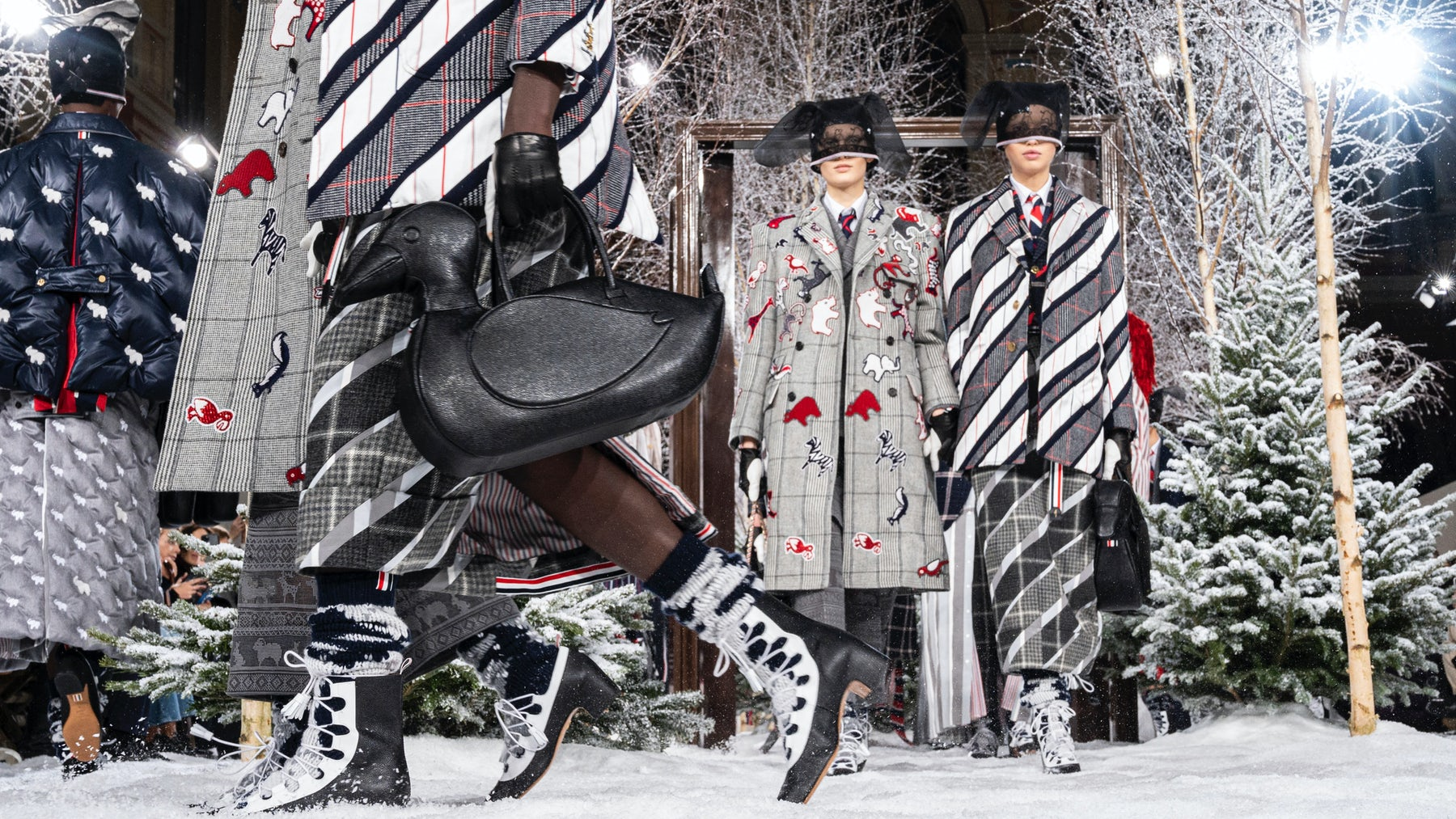 Thom Browne Autumn/Winter 2020. Getty Images.