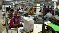 Workers at a garment factory in Dhaka, Bangladesh. Getty Images.