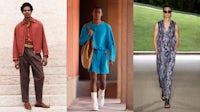 Milan fashion week (L-R) Tod's, Zegna, Giorgio Armani. Courtesy.
