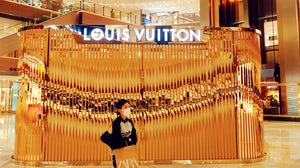 Louis Vuitton's pop-up store at the Shanghai Global Port in Shanghai, China. Getty Images.