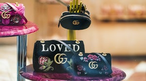Gucci bags in a Milan shop window. Shutterstock.